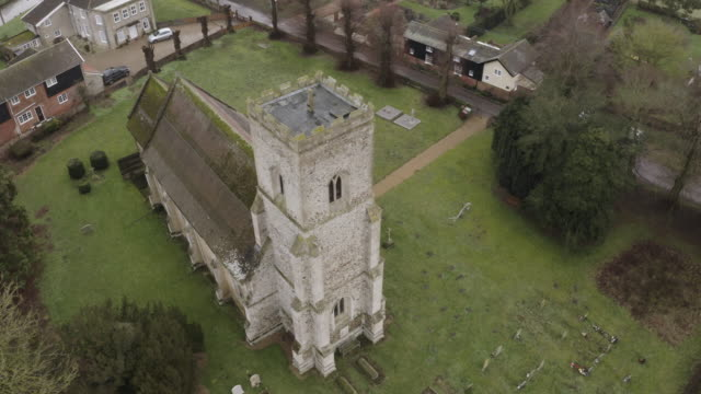 full shot of the church of st mary in troston - veranda stock videos & royalty-free footage