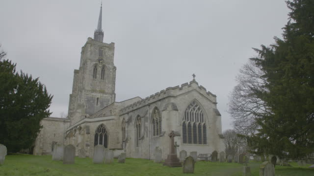 full shot of the church of st mary the virgin in ashwell - ornate stock videos & royalty-free footage