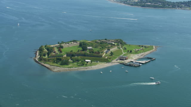 full shot of the georges island - fortress stock videos & royalty-free footage