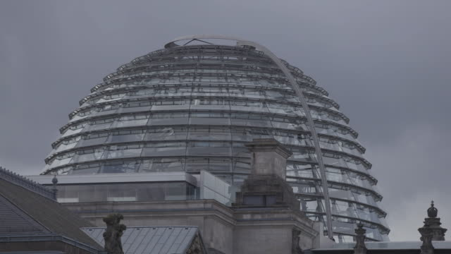 full shot of the glass dome of the reichstag building - 1933 stock videos & royalty-free footage