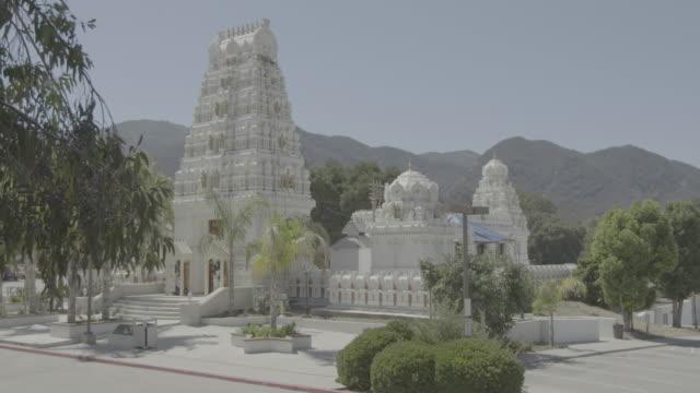 Full shot of the Malibu Hindu Temple