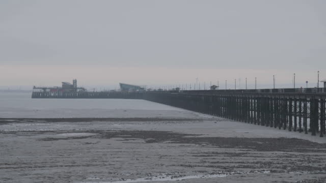 full shot of the southend pier in southend-on-sea - town stock videos & royalty-free footage