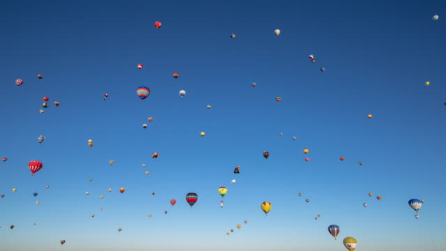 Full Sky of Hundreds of Hot Air Balloons