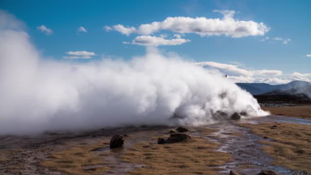 Fumarole im Hverir Thermalbereich in Island.