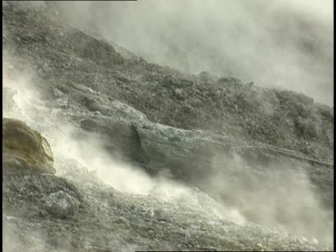 fumaroles emit sulfurous gases. - 噴気孔点の映像素材/bロール