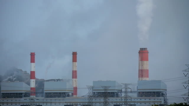 fumes from coal power plant - thailand stock videos & royalty-free footage
