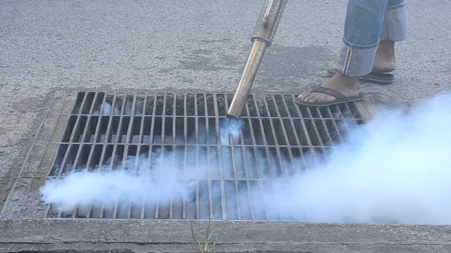 fumigate mosquito killing - insecticide stock videos & royalty-free footage