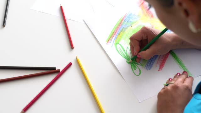 fun and colorful - crayon stock videos & royalty-free footage