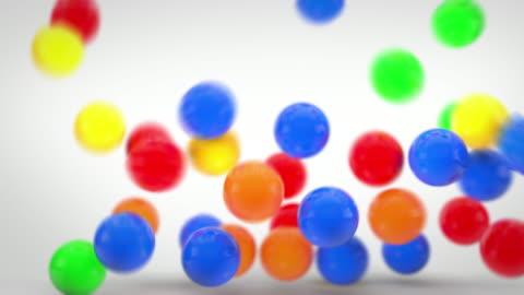 vidéos et rushes de balles d'animation, fun gonflable coloré (full hd - ball