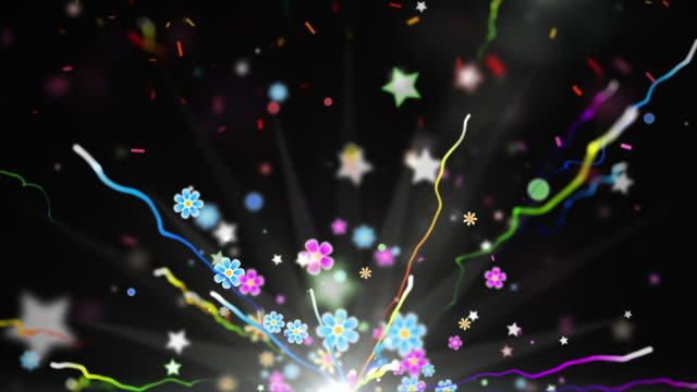 fun celebration background - party black (full hd) - fiesta background stock videos & royalty-free footage