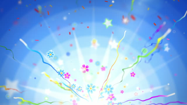 fun celebration background - party blue (full hd) - anniversary stock videos & royalty-free footage