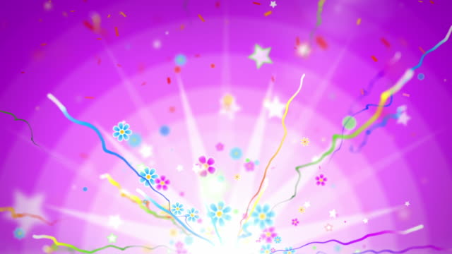 fun celebration background - party pink (full hd) - streamer stock videos & royalty-free footage
