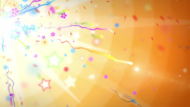 fun celebration background - side glow party orange (full hd) - multi colored background stock videos & royalty-free footage