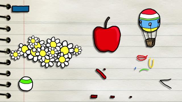 Coloré divertissement animés de croquis dessinés à la main#2