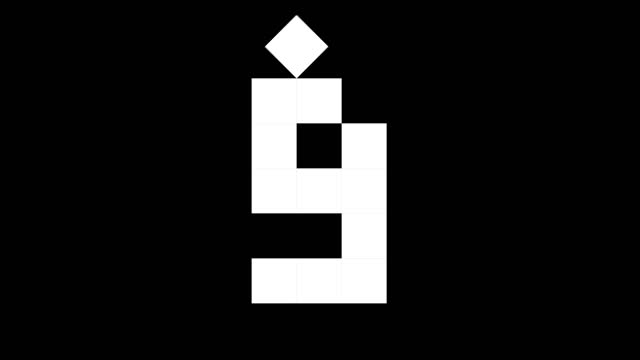 fun cube numbers set from 0 to 10, 2d real physics boxes on black background (loop 4k) - number 9 stock videos & royalty-free footage