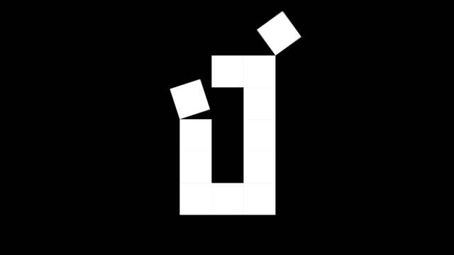 fun-würfel-zahlen von 0 bis 10, 2d echte physik-boxen auf schwarzem hintergrund (loop 4k) - null stock-videos und b-roll-filmmaterial
