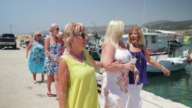 fun day out with friends - cyprus island stock videos & royalty-free footage