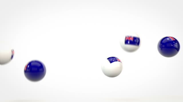 Fun Glossy Balls Animation - Australian flags (Full HD)