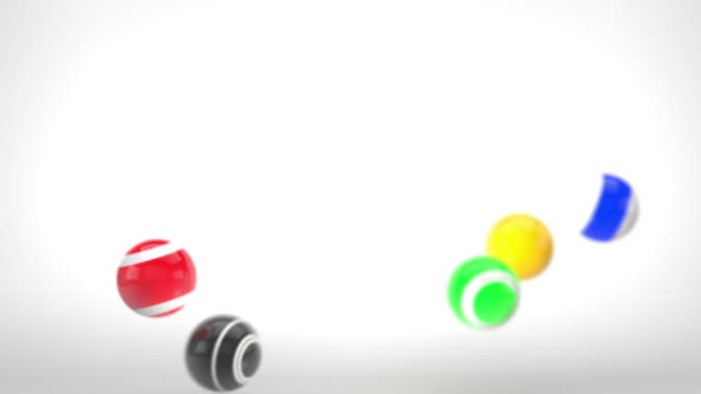 Fun Glossy Balls Animation - Multi-Coloured Version 1