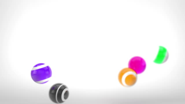 Fun glänzenden Bälle Animation-Multi-farbigen Version 2