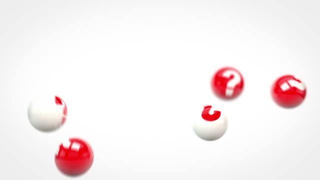 Fun Glossy Balls Animation - Question Marks Red (Full HD)