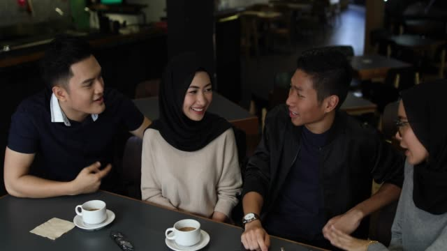 fun on double date - indonesian ethnicity stock videos & royalty-free footage