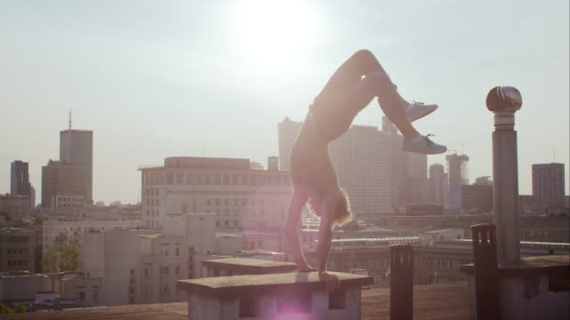fun on the roof - risk stock videos & royalty-free footage