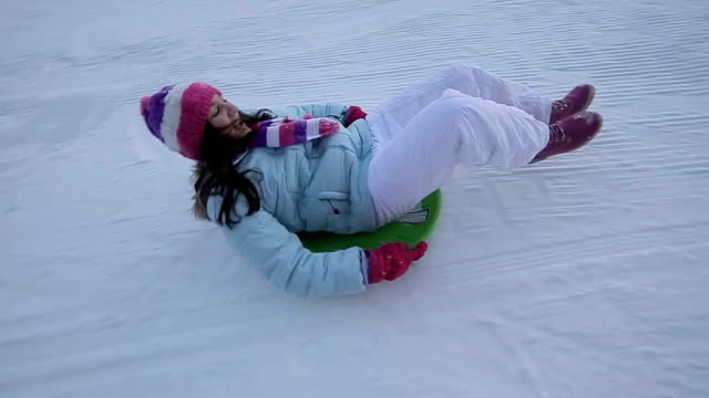 fun on the ski slope,camera stabilization shoot - sliding stock videos & royalty-free footage