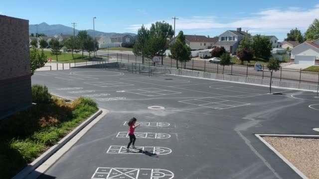 fun with hopscotch - playground stock videos & royalty-free footage