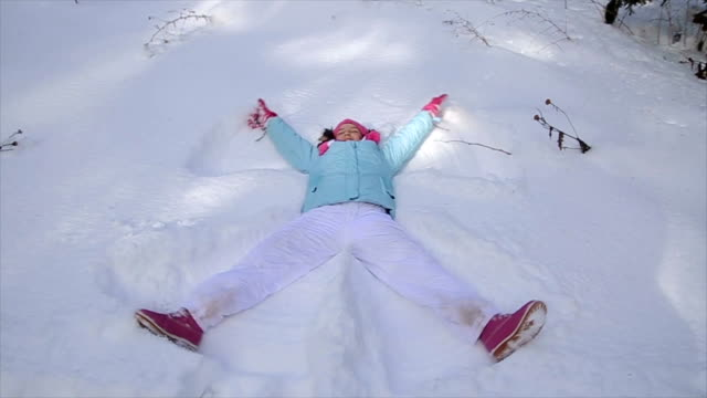 Fun with snow,snow angel