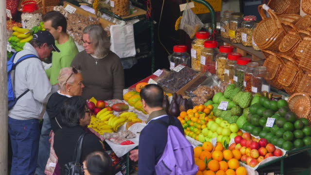 funchal market - basket stock videos and b-roll footage