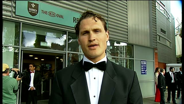 fund raising event to be held in memory of surrey cricketer tom maynard england london gir / the oval darren clayton live 2way interview on... - tom chance stock videos & royalty-free footage