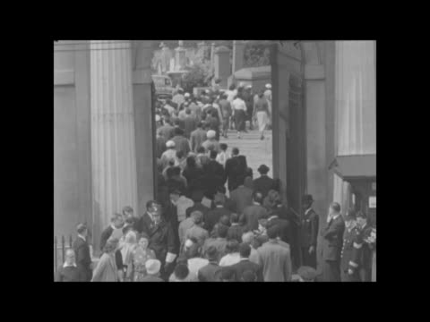 funeral and procession of kelso cochrane; england: london: ladbroke grove: ext gv st michael of all angels church bv police and crowd. crowd -... - 1950 stock videos & royalty-free footage