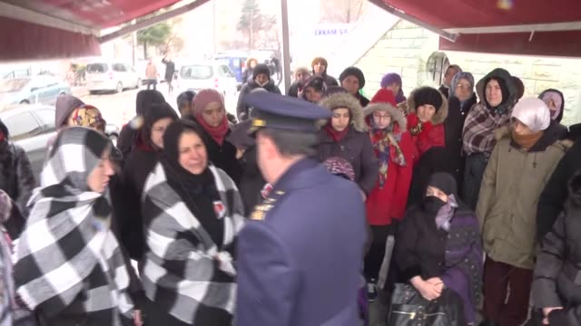 Funeral ceremony held for flight technician Ihsan Koca who lost his live in a cargo plane crash near Bishkek in Eskisehir Turkey on January 20 2017...