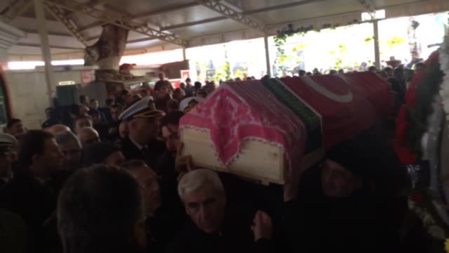 a funeral ceremony is held for hatice karcilar who was private security guard of reina nightclub and killed in the armed attack on the club in... - ortakoy mosque stock videos and b-roll footage