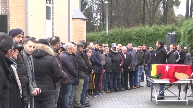 a funeral ceremony is held for mehmet kerim akyil a 23yearold belgian citizen of turkish origin who was killed in the new year's eve shooting at an... - ortakoy mosque stock videos and b-roll footage