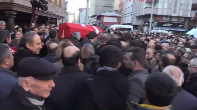 a funeral ceremony is held for mustafa sezgin seymen who was killed in the armed attack on a nightclub in istanbul on january 02 2017 at a mosque in... - ortakoy mosque stock videos and b-roll footage