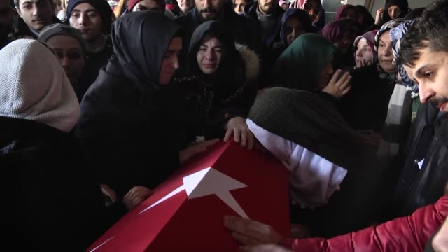 a funeral ceremony is held for yunus gormek who was killed in the armed attack on a nightclub at ihlamurkuyu merkez mosque in istabul turkey on... - ortakoy mosque stock videos and b-roll footage