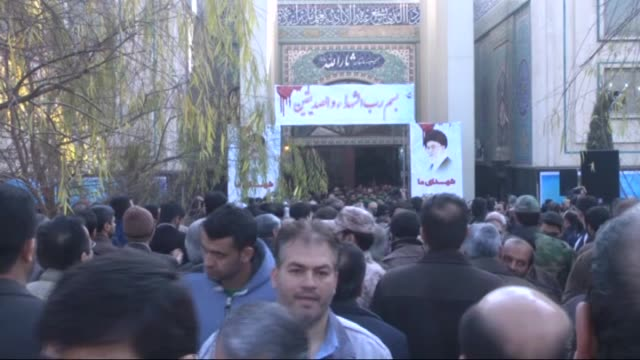 funeral ceremony of iranian revolutionary guard commander general mohammad ali allahdadi is held in tehran iran on january 21 2015 allahdadi was... - revolution stock videos & royalty-free footage