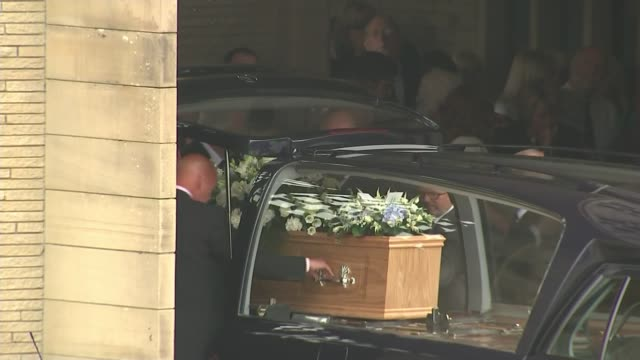 funeral held for england 1966 world cup player ray wilson england yorkshire huddersfield ext coffin being taken from hearse former england footballer... - jack charlton stock videos & royalty-free footage