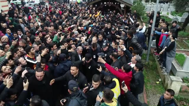 Funeral is held for father of Galatasaray's head coach Fatih Terim Talat Terim in Adana southern province of Turkey on February 07 2019