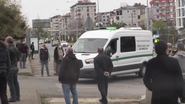 funeral is held on april 15, 2020 in trabzon for haydar bas, leader of the independent turkey party who lost his life on tuesday after contracting... - contracting stock videos & royalty-free footage