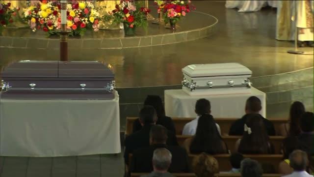 funeral of carol coronado's three daughters - postpartum depression stock videos & royalty-free footage