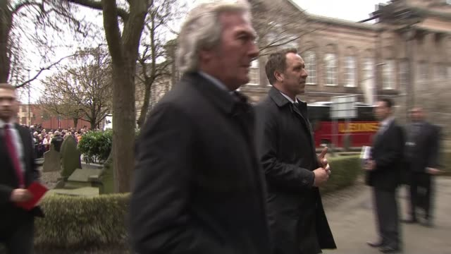 funeral of england goalkeeper gordon banks takes place in stoke england staffordshire stoke ext pat jennings ray clemence and david seaman arriving - pat jennings stock videos and b-roll footage