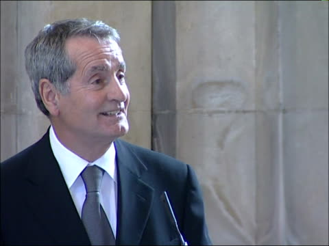 funeral of former england footballer alan ball frank mclintock speech sot more of eulogy including anecdote concerning elderly mother of george... - eulogy stock videos & royalty-free footage