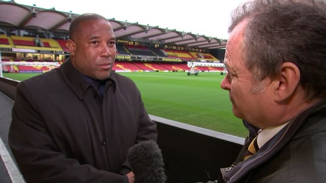 Funeral of Graham Taylor takes place in Watford Funeral of Graham Taylor takes place in Watford Vicarage Road John Barnes interview SOT/ St Mary's...