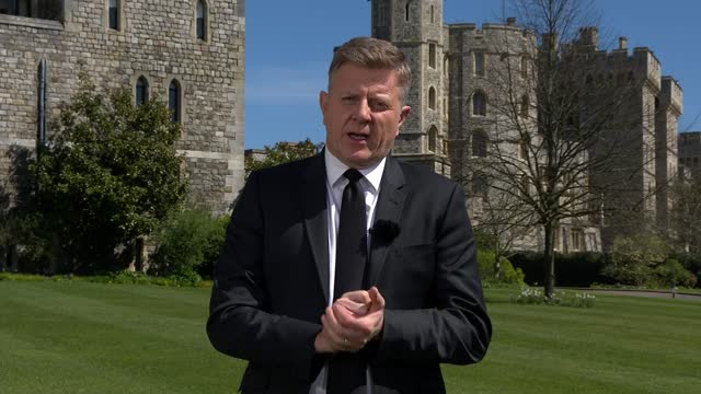 funeral of prince philip, duke of edinburgh: itv news special: 'prince philip - a royal funeral': pab 13.15 - 14.00; england: berkshire: windsor... - julie etchingham stock videos & royalty-free footage