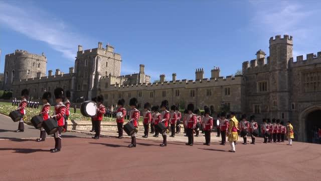 funeral of prince philip, duke of edinburgh: itv news special: 'prince philip - a royal funeral': pab 13.15 - 14.00; england: berkshire: windsor... - berkshire england stock videos & royalty-free footage