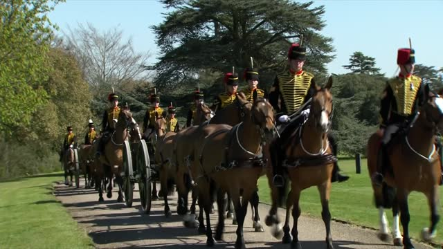 funeral of prince philip, duke of edinburgh: windsor area clean feed 14.00 - 15.00; england: berkshire: windsor home park: ext wide shot of the east... - all horse riding stock videos & royalty-free footage
