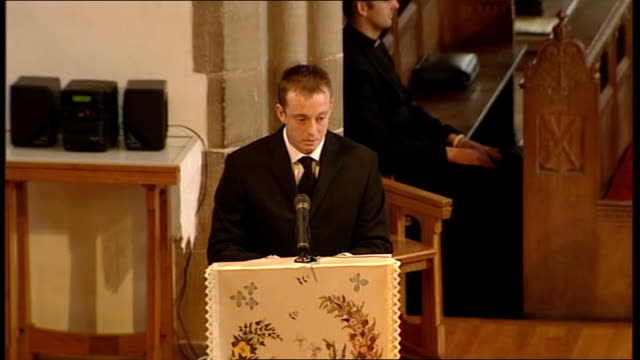 funeral of private nathan cuthbertson chris curtis eulogy continued sot never told him how i actually felt about him how much he meant to me now i'll... - eulogy stock videos & royalty-free footage